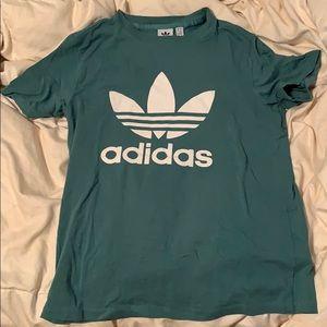green adidas tee